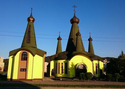 Farebné riešenie fasády Pravoslávného chrámu vo Svidníku