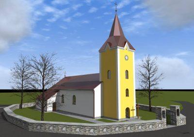 Kostol Stročín - modernizácia