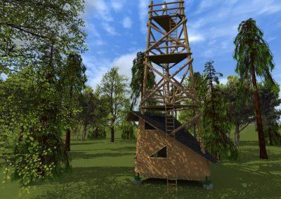 Vyhliadková veža s útulňou